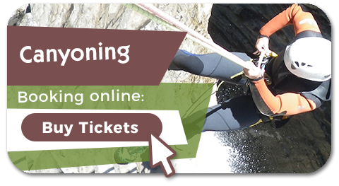 Booking your activity of canyoning